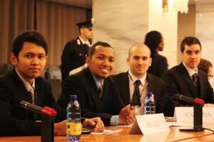 Dalam ruang konferensi Kementerian Luar Negeri Italia