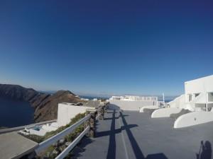 View dari penginapan di Santorini
